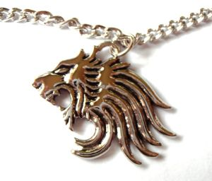 Final Fantasy FF Squall's Lion Heart Pendant Necklace Chain Cosplay
